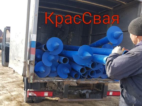 Заказать винтовые сваи в Красноярске по выгодной цене с установкой
